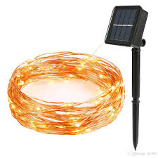 <b>10m 100 LED Solar</b> Lamps Copper Wire Fairy String Patio Lights ...