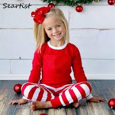 <b>Seartist Baby Girls</b> Boys Christmas Pajamas Set Children Striped ...