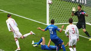 Image result for ITALY KNOCK OUT DEFENDING CHAMP SPAIN 2 - 0