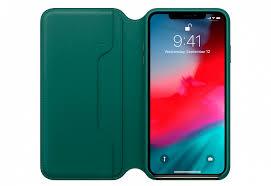Купить <b>Чехол Apple Leather</b> Folio для iPhone XS Max, «зелёный ...