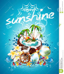 vector summer holiday flyer design coconut and paradise vector summer holiday flyer design coconut and paradise island
