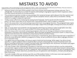 essay on mistakes  wwwgxartorg deconstructing an essay mistakes