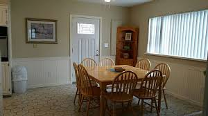 spacious eat in kitchen lots of seating newly painted kitchen and wainscoting spacious eat kitchen