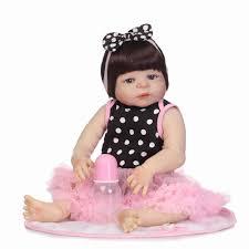 NPK <b>55CM</b> Real <b>Full Body Silicone</b> Girl Reborn Baby Doll Toy ...