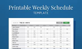 printable work schedule template for employee scheduling weekly excel employee schedule template
