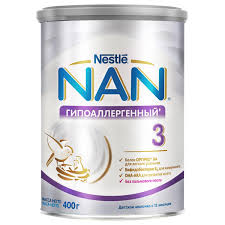 Детское молочко <b>Nan Гипоаллергенный 3</b> с 12 месяцев, 400 г ...