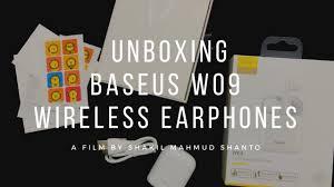 Unboxing <b>Baseus W09 Wireless</b> Earphones - YouTube