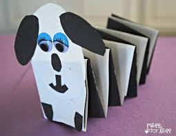 Paper Crafts for Kids - <b>Spring Dog</b> - Mess for Less