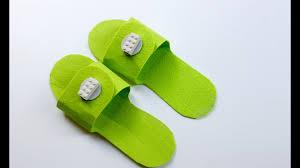 Easy craft: How to make DIY Lego <b>slippers</b> - YouTube