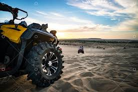 <b>Summer offroad</b> adventure on atv in sand quarry. Entertainment of ...