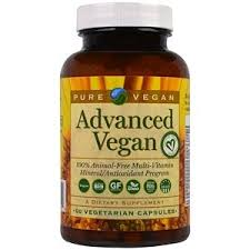 Pure Vegan, <b>Advanced Vegan</b>, <b>60 Veggie</b> Caps | Vegan vitamins ...