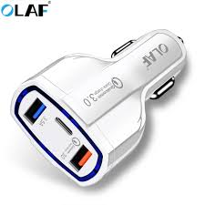 <b>Olaf</b> Quick Charge 3.0 Car Charger 2 Port <b>QC3</b>.<b>0</b> Quick Charger for ...