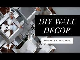 tree wall decor art youtube: diy dollar tree faux mirror wall art easy amp quick youtube