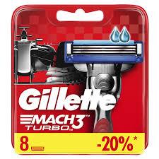 Сменные <b>кассеты Gillette Mach3 Turbo</b> 8 шт — купить в интернет ...