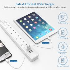 <b>Extension</b> Leads with USB Socket, Switched, <b>4 Gang</b> UK Power ...