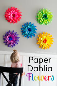 diy flower craft ideas to try flower diy and crafts and this post is brought to you by astrobrightsreg papers all opinions are mine rainbow paper dahlia flowers spring is finally in the air here finally and