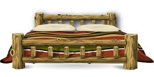 bed wood rustic furniture bedroom decor pillow bed wood furniture