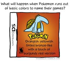 "50 ""Pokemon: Orangish yellowish tinted bronze-like with a touch of ... via Relatably.com"