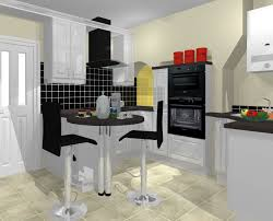 small kitchen ideas black chairs