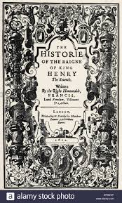 francis bacon english author philosopher title page from francis bacon english author philosopher title page from history of the reign of henry vii 1622 22 1561 9