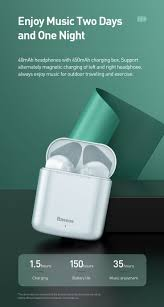 <b>Baseus W09 TWS</b> Wireless Bluetooth Earphone Intelligent Touch ...