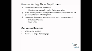 putting together your effective resume
