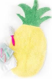 unusual shaped bathroom rugs cool how to make a pineapple shaped bath mat