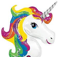 Rainbow <b>Unicorn</b> Super Shape <b>Foil Balloon</b> 33 x 29-Inch: Amazon ...