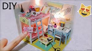 Pokemon Bedroom Decor Diy Miniature Dollhouse With Full Furniture Setslights Diy Room