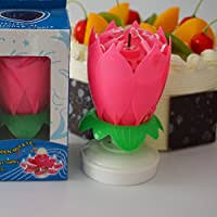 BESTOYARD <b>Double</b> Layers <b>Lotus</b> Birthday Candle with <b>Music</b> ...