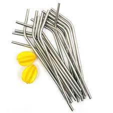 <b>Stainless Steel</b> Drinking Straws enLarge for Shakes and Smoothies ...