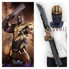 <b>Avengers</b>: <b>Endgame Thanos</b> 1:1 Scale <b>Double</b>-<b>Edged</b> Sword ...