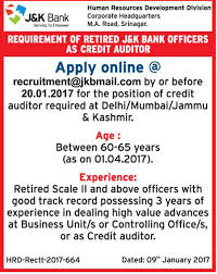 apply online for posts in j k bank last date jan  post views 36 588