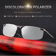 <b>2019</b> fashion square <b>photochromic sunglasses</b> men <b>polarized</b> ...