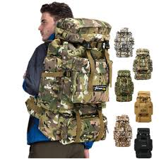 6styles <b>70L</b> Camo <b>Tactical Backpack</b> Military Army Waterproof ...