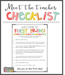 meet the teacher bies the first grade parade bloglovin this checklist tells my parents exactly what i want them their kids to do while they re in the room i love having a checklist for them to complete