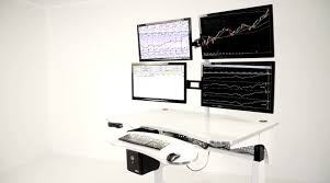 build your own multiple monitor stock market trading station at zero gravity tables youtube amazing office desk setup ideas 5