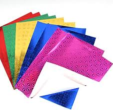 Amazon.com: Exceart <b>50PCS Holographic</b> Glitter Paper Origami ...