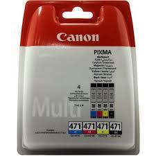 Комплект оригинальных <b>картриджей Canon CLI</b>-471BK, <b>CLI</b>-471C ...