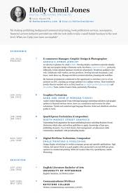 e commerce manager graphic design photographer resume samples photography resume template
