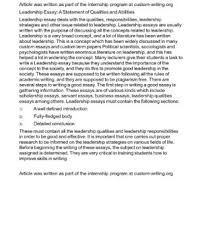 qualities of leadership essay come with leadership essay qualities  essay on good leadership