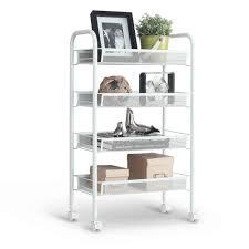 tier metal kitchen storage langria  tier metal mesh rolling cart trolley storage shelving rack fo
