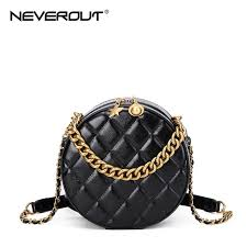 None Versatile <b>NEVEROUT</b> Chain Circle Shoulder <b>Bag</b> for Women ...