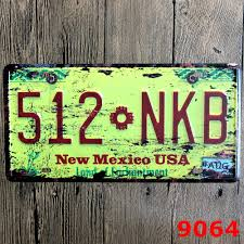 new mexico home decor: metal license plate quot nkb new mexico usaquot metal art wall decor house cafe