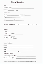 doc 605760 rental receipts printable rent receipt in pdf form monthly rent receipt format rent receipt templatesmonthly rent rental receipts