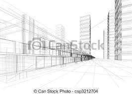 abstract 3d construction of office building white background concept modern city modern architecture and designing abstract 3d office building