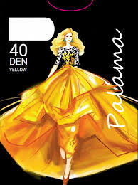 Женские <b>колготки Palama</b> (<b>Палама</b>) <b>Yellow</b> 40 - Gudzone