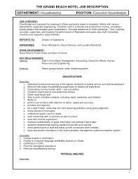 resume job description for housekeeping able resume resume job description for housekeeping able resume regard to resume for hotel housekeeping
