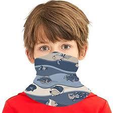 <b>Vintage Fish</b> Kids Neck Gaiter Bandana Face Mask Reusable ...