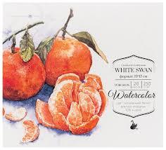 <b>Альбом для акварели Малевичъ</b> White Swan 19 х 17 см, 250 г/м² ...